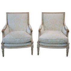 Pair of 19th Century Swedish Bergere Chairs
