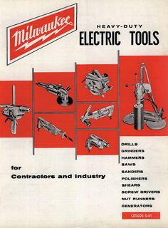 1961 Milwaukee Electric Tool Product Catalog