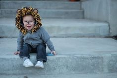 Lion | Hoodies Are The Hottest Kid's Costume Trend On Pinterest This Halloween