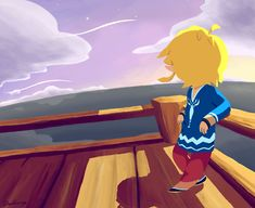 Wind Waker - Link on Sunset Island