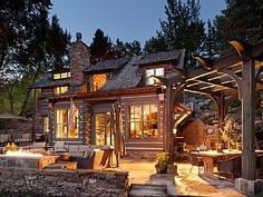 Restored+Log+Cabin+on+River+with+Aspen+Mountain+View+and+Short+Walk+to+Downtown++++Vacation Rental in Northwest from @homeaway! #vacation #rental #travel #homeaway