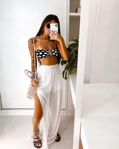 Casual Chic Outfits, Cute Outfits, Trendy Outfits, Boho Fashion, Fashion Outfits, Fashion Clothes, Brunch Outfit, Types Of Fashion Styles, Summer Looks
