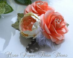 Paper Flower Boutonniere Buttonhole Fall by morepaperthanshoes