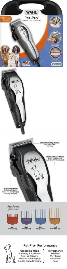 Scissors and Fur Clippers 46304: Wahl Pet Pro Thick Hair Complete Heavy Duty Dog Grooming Clipper 13 Pcs Kit Usa -> BUY IT NOW ONLY: $31.95 on eBay!
