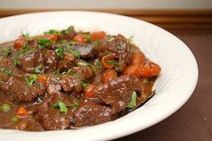 It's definitely fall and one of my favorite dishes to make during a brisk fall evening is a Hearty Beef Stew. Making the stew for dinner cam. Meat Recipes, Wine Recipes, Cooking Recipes, Hungarian Recipes, Turkish Recipes, Hearty Beef Stew, One Pot Meals, Soup And Salad, Food Blogs