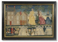 An important George II wool needlework picturedated 1746, initialed EP Sotheby's