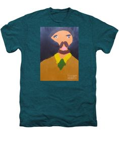 Patrick Francis Premium Deep Teal Heather Designer T-Shirt featuring the painting Portrait Of Eugene Boch 2015 - After Vincent Van Gogh by Patrick Francis