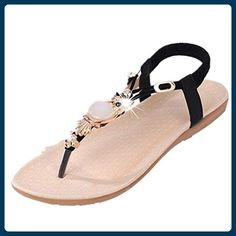 a63cf3791 Clode® Damen Sommer Strass Eule Süße Flat Klippzehe Herringbone Sandalen  Strand Flip Flops Lady Slipper