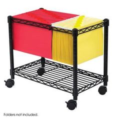 Wire Mobile File Cart at SCHOOLSin
