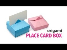 Origami Place Card Box + Lid Tutorial ♥︎ DIY ♥︎ - YouTube