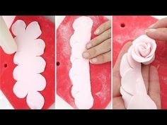 Quick & Easy Sugar Roses using The Easiest Rose Ever Cutter - YouTube