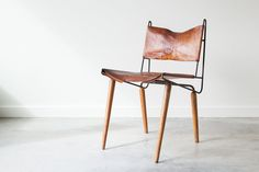 Mid Century Modern Leather  Chair.