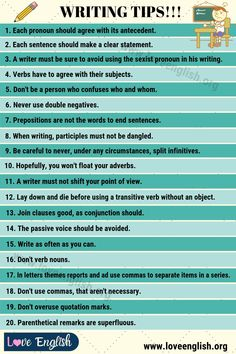 Writing Tips: 40 Smart Tips on How to Write Better - Love English Book Writing Tips, Cool Writing, Writing Process, Writing Ideas, One Word Sentence, Word Out, English Writing, English Words, Transition Words And Phrases