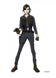 In early versions of the script, Jyn had a Jedi mother and a younger brother who she had to protect.