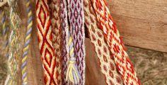 Tablet weaving  Spjaldvefnaður  (check pins of Linda Schuster)