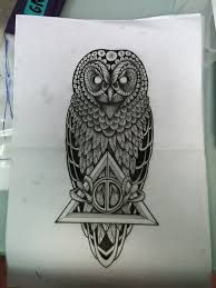 """Résultat de recherche d'images pour """"raven owl tattoo"""""""