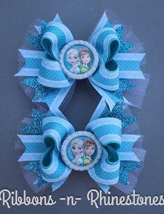 Congelado de arco congelados arco del pelo Ana y Elsa lazo
