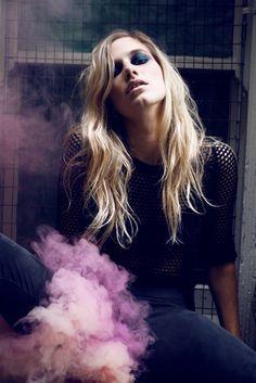 smoke bomb, fashion, makeup, dark, Portland