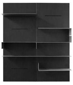 Bibliothèque iWall compositin 2 panneaux - L 160 x H 190 cm Noir - Zeus