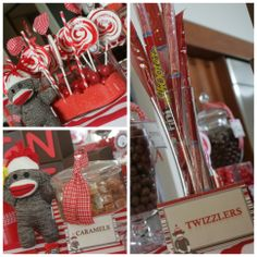 Sock Monkey Candy Buffet | By POP Candy Buffet | Ignacio Javier 1st Birthday | Location: Dorado PR