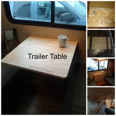 Replace your dinette table with an Ikea Norbo table. A nice table with room to manoeuver!