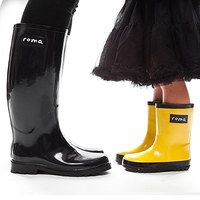 Take weather by the horns and show it that fashion is the boss. This collection from Roma Boots and other popular brands ensures the family will be able to be dressed and ready for all of the action the skies throw at them. For each boot sold, Roma donates a pair of shoes to a child in need and 10 percent of proceeds go to the Roma For All Foundation. Learn more