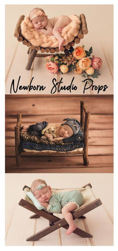 These beautiful newborn photo props would help baby to relax and help you get pretty pictures! Wood Rustic Miniature Hammock, Deck Chair, Newborn Photography Prop - Ready to Ship #newbornphotography #photoprops #newbornbaby #photography #baby #rustic #ad #newbornbabyphotography