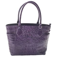 fa4b7370cdb6e3 Tracie Alligator Leather Tote - Purple. ExoticLeather Shoulder BagShoulder  BagsShoulder ...
