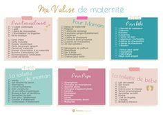 Ma liste imprimable pour préparer ma valise de maternité