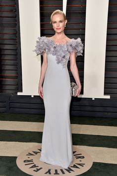 Kate Bosworth Wearing Norman Silverman diamonds at Vanity Fair's Oscars party.