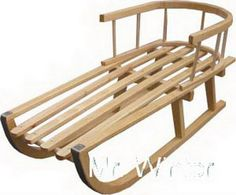 Wooden Sledge with removable Back Rest Toboggan sledge with Pulling Rope in Toys & Games, Outdoor Toys & Activities, Other Outdoor Toys/ Activities | eBay