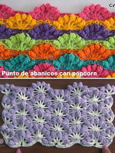 The fan stitch is one of the most brilliant stitch to master. This is one of the hottest variations of this stitch and you can use it everywhere. Crochet I Cord, Easy Crochet, Crochet Hooks, Free Crochet, Knit Crochet, Crochet Flower Patterns, Crochet Stitches Patterns, Stitch Patterns, Baby Blanket Crochet