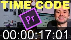 How to Put a Time Code countdown on Your Video in Adobe Premiere Pro CC ...