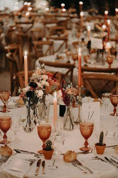 Wedding Reception Tables, Wedding Table Decorations, Fall Wedding Table Decor, Fall Wedding Centerpieces, Orange Wedding Decor, Orange Wedding Flowers, Rustic Wedding Flowers, Outdoor Wedding Venues, Fall Table