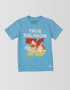 BOYS HAWAII 76 SHORT SLEEVE CREW NECK TEE - Tops   True Religion Brand Jeans