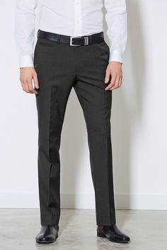 Hose mit schmaler Passform ohne Bundfalte  55% Polyester, 45% Wolle....