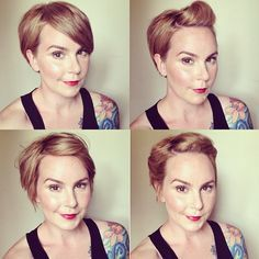 mama mandolin: Answering Hair Questions. shows the versatility of her short hair which gives me confidence to chop it off and copy her styles