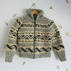 vtg 60's // cowichan sweater // childrens // by foxandrook on Etsy