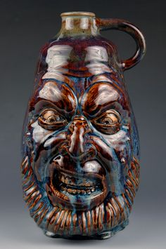 Amazing Angry Face Jug by BrixeyStudios on Etsy, $400.00