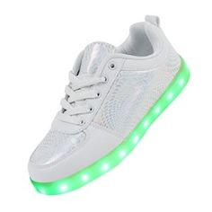 Lignes dragon Motif USB changer 7 couleurs clignotant LED Lighting Hommes Femmes Chaussures Sneakers pour Prom Party (blanc, 42)