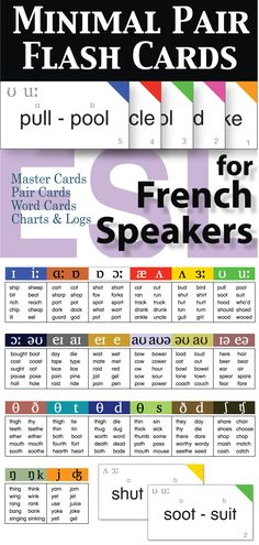 With this set you will have a flexible resource for assessments and to utilize in pronunciation activities. This 20 card set targets the most problematic pronunciation issues for French speakers of English as a second language.