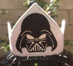 Darth Vader Felt crown, star wars birthday, Darth Vader shirt, star wars party, star wars costume, Star wars Darth Vader  photo prop