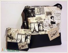 Vintage táska textilbőrrel (pannika) - Meska.hu