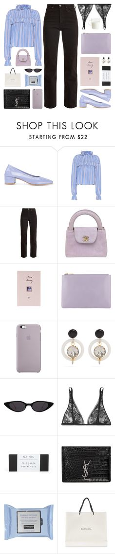"""""""In the silence, I sit alone on my throne and wait eagerly for all the satisfaction and triumph to hit me. I wait, and wait, and wait.  But it doesn't come."""" by yuelle ❤ liked on Polyvore featuring Maryam Nassir Zadeh, Marni, Eve Denim, Chanel, Topshop, Carine Gilson, Yves Saint Laurent, Balenciaga, Kinto and ruffles"""
