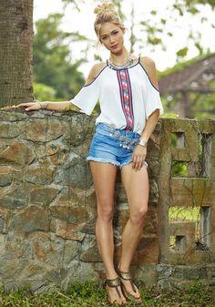 Aliexpress.com: Comprar 2016 Mujeres Blanco Blusas de La Gasa de Las Señoras Impreso Hombro Bohemio Camisas Tops camisas de blusa de túnica fiable proveedores en Ushow  Store