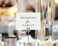 FREE Reserved for Family Printable Card from Bliss Paper Boutique #BPB310_42 - FREE printable!
