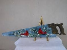 Image result for painted saws Fall Canvas Painting, Feather Painting, Buck Saw, Painting Tools, Tole Painting, Handmade Christmas Crafts, Hand Saw, Fan Blades, Christmas Paintings
