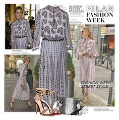 """""""Milan Fashion Week fall 2016 - Olivia Palermo"""" by sella103 ❤ liked on Polyvore featuring Boohoo and Gianvito Rossi"""