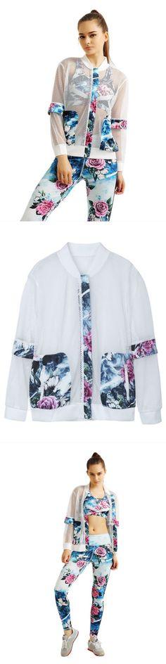 Jackets hollister women sport flower printed patchwork hollow suntan-proof wear jacket #3m #jackets #jackets #lightweight #jackets #qatar #jackets #with #dresses