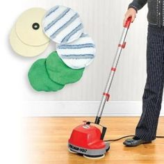 3. Floor Cleaning Machine - Mini Buffer Scrubber Polishes Surfaces Including Carpet by Worldgoodscorp Cleaning Wood, Floor Cleaning, Cord Storage, Storage Units, Buffing Pads, Kitchen Vacuum, Patio Tiles, Floor Care, Clean Microfiber
